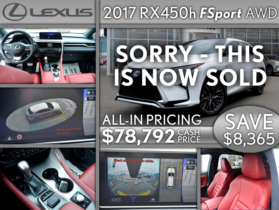 '17 RX450h F sport - secondary