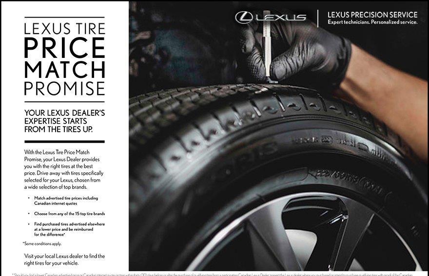 Lexus Tire Match Promise