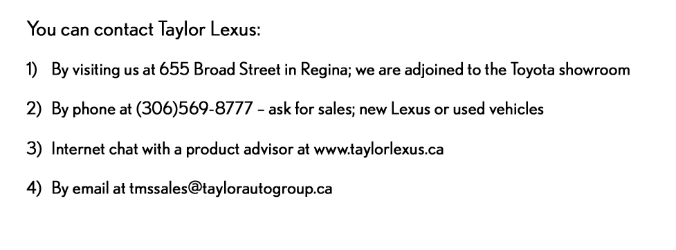 contact us lexus