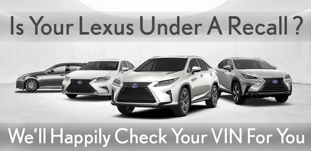 Lexus Recall Check image