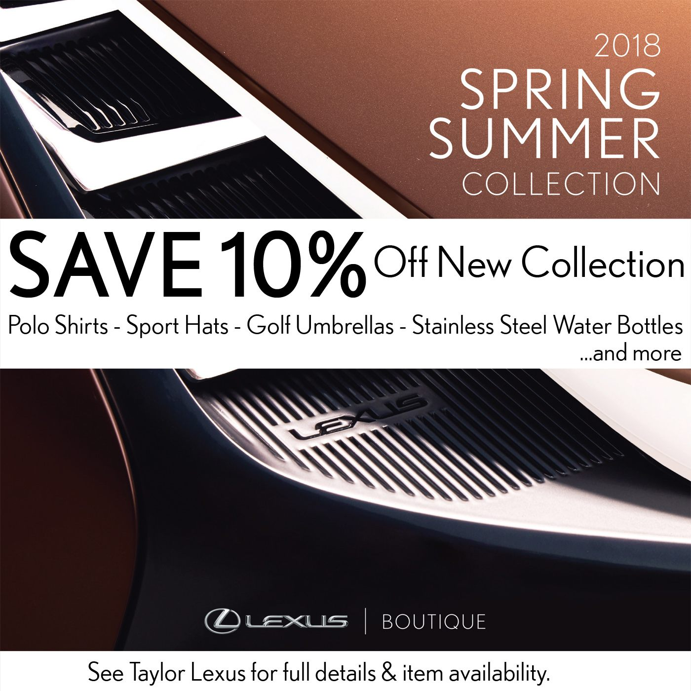 Save 10% on Lexus Boutique Items