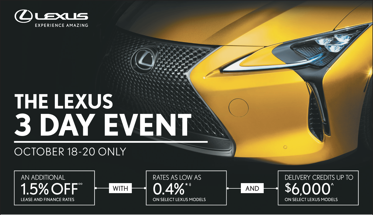 3 Day Event Oct 2018