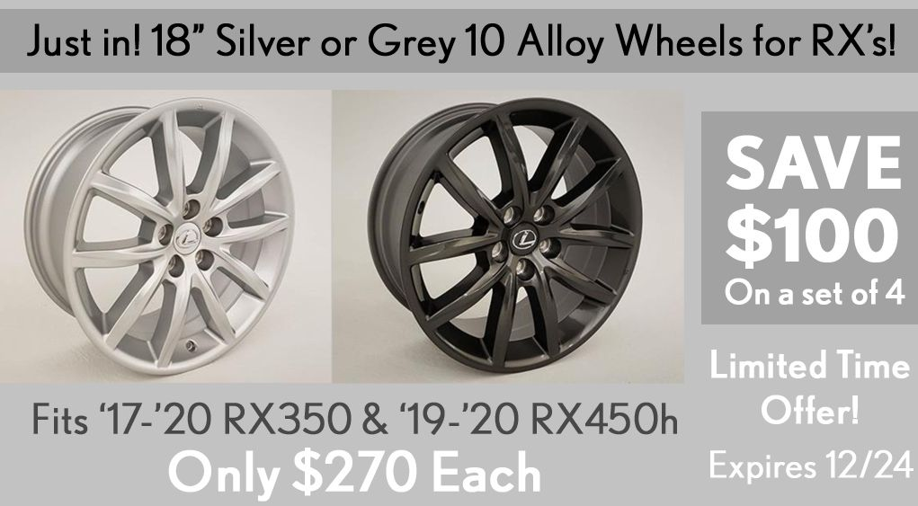 Customize your Lexus with new rims